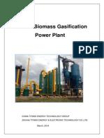 2mw Biomass Gasification Gas Power Plant Proposal
