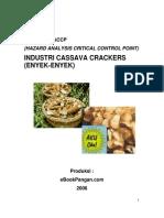 Model Rencana Haccp Industri Cassava Crackers Enyek Enyek