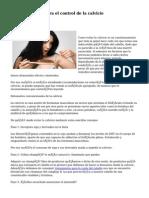 Procedimientos para el control de la calvicie