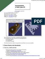 CSM Designing Parametric Spur Gears With Catia V5