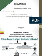 TALLER ACCIONES DE CONTROL EN LOS PROCESOS DE PLANIFICACIÓN DE LOS NIVELES DE GOBIERNO