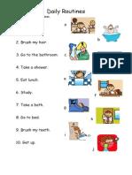 Islcollective Worksheets Beginner Prea1 Elementary a1 Elementary School Reading Da My Routines Easy 1 24474509cbd0e4ecac7 18657631