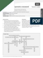 Components Crossword