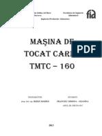 proiect utilaj masina de tocat carne tmtc-160