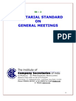 Secretarial standards for Board meeting