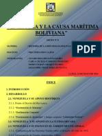 Venezuela y La Causa Marítima Boliviana