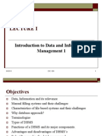 Introduction to Data and information maanagemnet