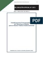 Clasificaciones Presupuestarias de Recursos y Gastos Para El Sector Publico Gubernamental