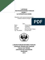 Laporan Praktikum Enzim 1 ( Uji Spesifikasi Enzim)