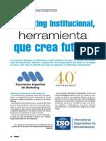 Marketing Institucional Asociacion Argentina de Mkt
