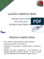 Luxación Medial de Rotula