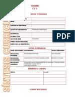 Sintesis Curricular 2014
