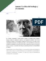 Bauman - Ética de Trabajo y Estética de Consumo