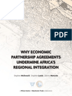Why Economic Partnership Agreements Undermines Africa's Regional Integration
