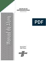 Disciplina de Empreendedorismo - Manual Do Aluno - JAN 08