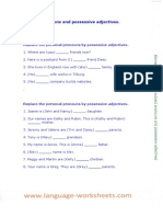 Elementary Subject Pronouns and Possessive Adjectives Exercises
