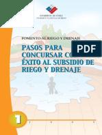 CARTILLA CNR Nº 1 Pasos Para Concursar Con Exito Al Subsidio de Riego y Drenaje