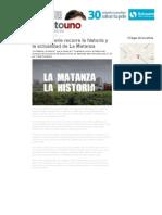 Una Miniserie Recorre La Historia y La Actualidad de La Matanza _ Televisión _ Minutouno
