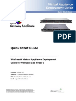 Winfrasoft Virtual Appliance Deployment Guide for VMware and Hyper V