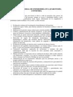 Atención General de Enfermería en Laparotomía Contenida