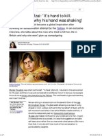Malala Yousafzai_ 'It's Hard to Kill. Maybe That's Why His Hand Was Shaking' _ World News _ the Guardian