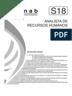 Fjpf 2006 Conab Analista de Recursos Humanos Prova