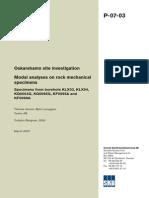 Modal Analyses on Rock Mechanical specimens