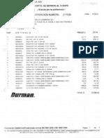 Cotizacion Durman Tuberia Planificacion