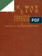 The Way to Live - George Hackenschmidt