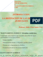 Introducción (la motivación de las decisiones judiciales y fi