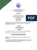 Medford City Council Agenda June 10, 2014