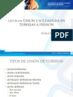 2.3 Tipos de Unión y Soldadura - c1 -Tipos de Union y Soldadura en Tuberias A