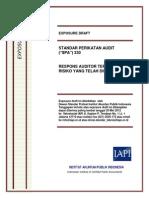 ED SPA 330 - Respon Auditor Terhadap Risiko Yang Dinilai