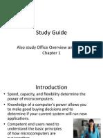 Exam #1 Study Guide