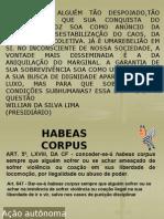 Professora Ivone- 8º Sem. Processo  Penal -IV-Habeas Corpus