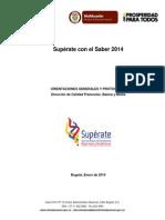 Orientaciones Superate Con El Saber 2014