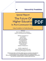 Future of Higher Education in Post Communist Countries