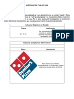 Investigación Publicitaria Pizza Hut