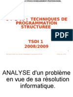 M09 TECHNIQUES D PROGRAMMATION STRUCTUREE