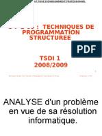 M09 TECHNIQUES D PROGRAMMATION STRUCTUREE