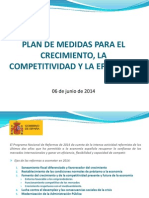 Plan de medidas económicas - 2º Semestre 2014