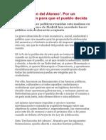 Declaración Del Ateneo (06.06.2014) - Por Un Referéndum Para Que El Pueblo Decida