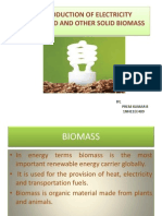 PRODUCTION OF ELECTRICITYFROM WOOD AND OTHER SOLID BIOMASS