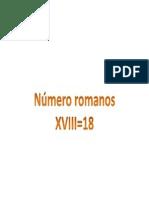 Números Romanos 18