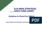 Australia-India Strategic Research Fund (Aisrf)