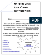 rising 7th grade summer math packet