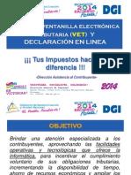 Uso de La Vet y Declaracion en Linea 2014