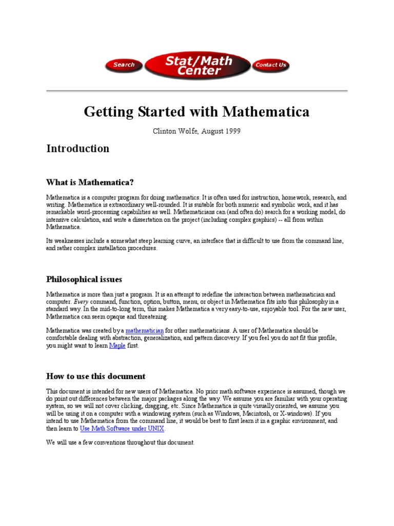 getting started with mathematica maple eigenvalues and rh scribd com Maple Programming Tutorial R Programming
