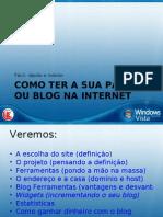 Páginas e blogs na Internet por Raul de Oliveira