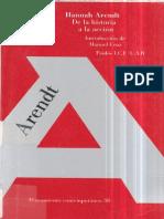 Arendt, Hannah - De La Historia a La Acción